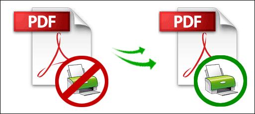 Unlock PDF Printing